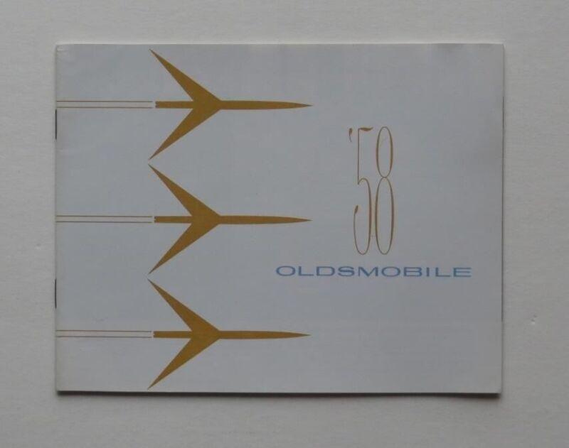 1958 Oldsmobile Full Line Brochure 98 88