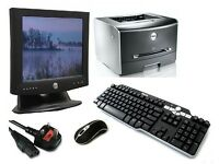 """** BARGAIN ** New Dell 20"""" Monitor, Dell 1720DN Laser Printer, Dell Keyboard, Laser Mouse & Cables"""