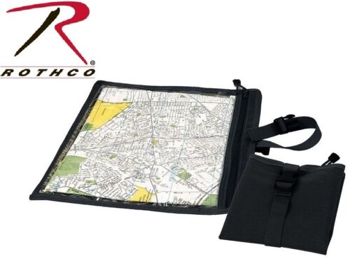 Black MilitaryTactical Waterproof Map & Document Case Pouch Rothco 9838