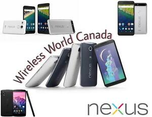 ALL TYPES OF GOOGLE NEXUS 5/ 5X/   NEXUS 6/6P UNLOCKED 32/64GB
