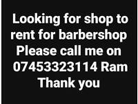Shop needed for barbershop