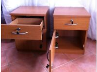 Bedside Cabinet with lockable drawer and cupboard