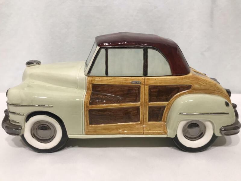 Vintage Cookie Jar WOODY Automobile Car OMNIBUS Fitz & Floyd 1993 Near MINT RARE