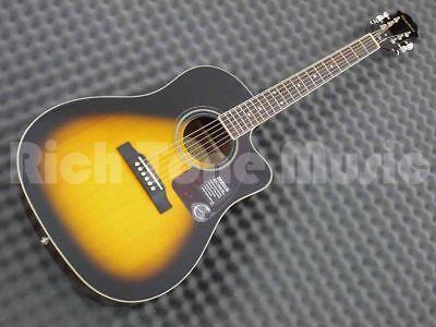 Epiphone AJ-220SCE Solid Top Electro Acoustic Guitar - Vintage Sunburst