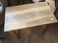 Wooden Table , solid table in good condition. size L 28in D 17 in H 24 in