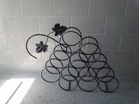 Comtemporary Stylish Wine Rack in smoked black and grey metallic - New and Unused