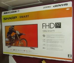 "Sharp 50"" Smart  LED TV only a year old"