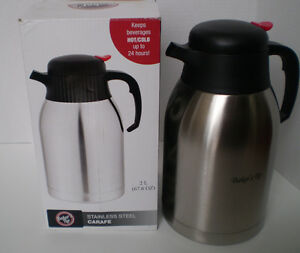 STAINLESS STEEL CARAFE, 2-L (67.6 oz) CAPACITY. NEW IN BOX!