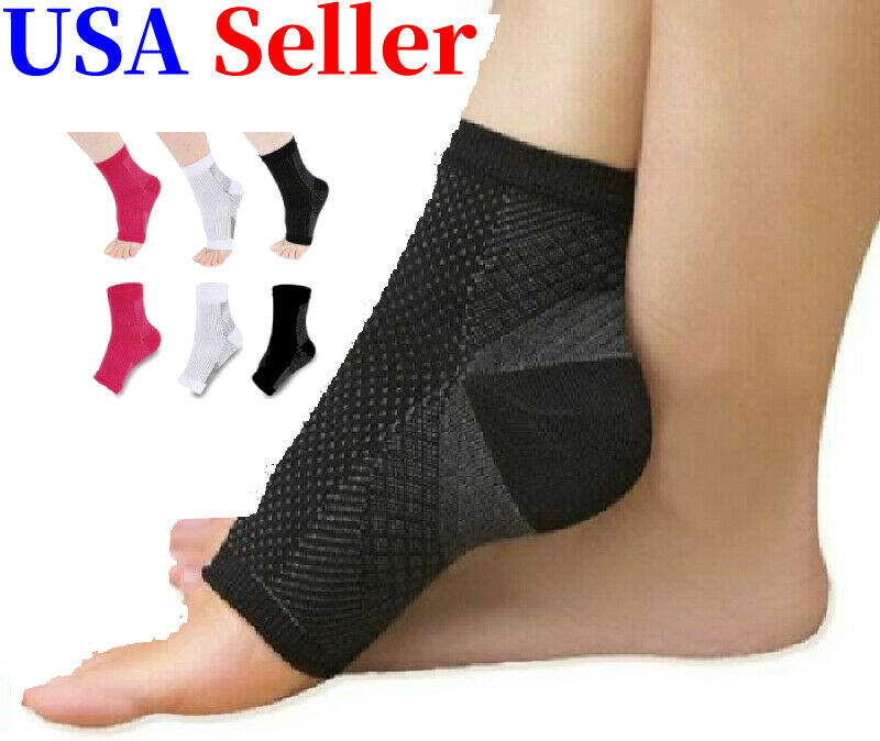 Compression Support Ankle Sleeve Socks PLANTAR FASCIITIS Hee