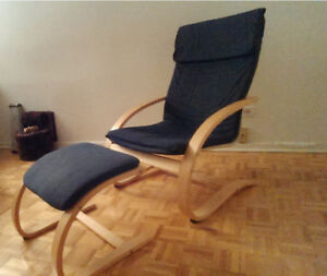 IKEA Poang chair with footstool -- great condition!