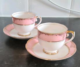 Tea Cups & Saucers (set of 2)