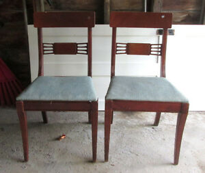 Vintage 1940s Wood Dining Room Chairs