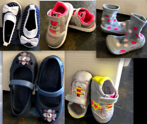 Nike Runners, Crocs Sandals, Slippers Sizes 5-8, 18mos to 36mos