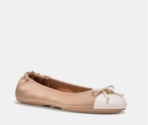 New in box Coach leather ballet flats shoes size 8 $190