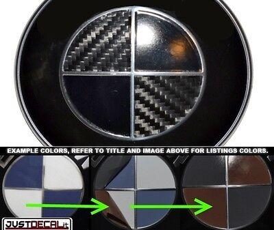 Carbon Fiber & Gloss Black Vinyl Sticker Overlay COMPLETE SET FITS BMW Emblems