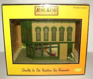 Rail King by MTH Electric Trains Corner Building - Jewlery Store