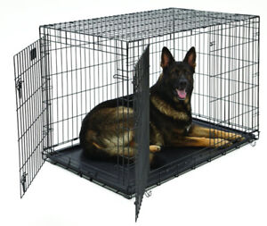 NEW 2 DOOR 48 IN XXL FOLDING DOG CAGE PET CAGE