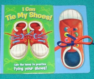 I Can Tie My Shoes Book with Laces to practice
