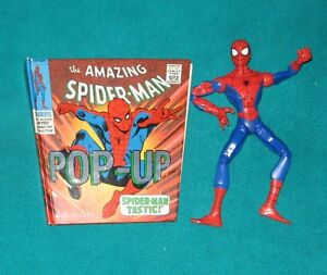 The Amazing Spider-Man Pop-Up Book and Spidrman Action Figure