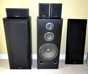 Like New Vintage Technics Stereo Speakers + Surround MADE IN USA