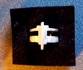 Vintage Silver Pilgrim Ring stamped PILGRIM