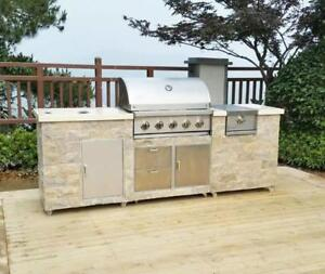 Built-in Stainless Steel Smokeless Outdoor Grill  024402