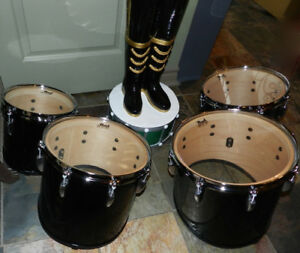 NewInBox PEARL Black Tenor Marching Drum Set LESS THEN 1/2 Price