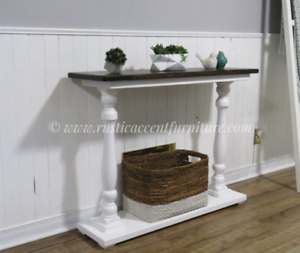 Balustrade legs console/entry/side table - new (breadboard top)