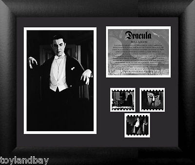 Film Cell Genuine 35mm Framed Matted Dracula Bela Lugosi Montage USFC2424 New