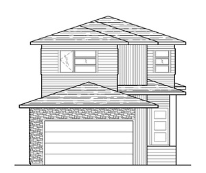 Open Design Two-Storey with Front Attached Garage