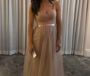 Blush bridesmaid OR Evening gown