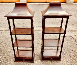 REDUCED! Pagoda Hanging Shelves with Drawers, Ethan Allen