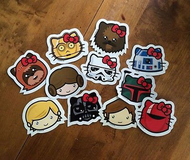 Hello Kitty Stickers Star Wars Decals Family Car Window Hellowars Kawaii Theme