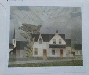 A.J. Casson -  signed  Ltd-  Village House