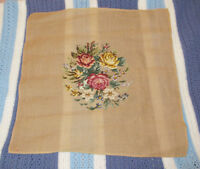 NEEDLEPOINT Flower Tapestry CANVAS - Make Pillow / Picture