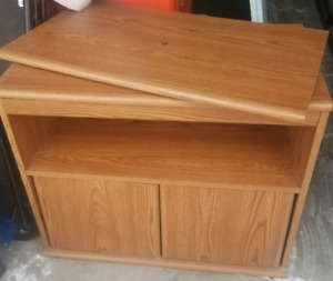 TV Stand with Swivel Table Top