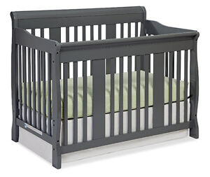 *STORK CRAFT* TUSCANY 4 In 1 STAGES BABY CRIB - GREY