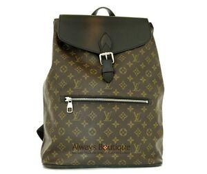 100% Authentic LOUIS VUITTON Monogram Macassar Palk Backpack Bag