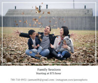 Family Sessions starting at $75/hour