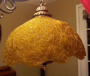 Retro vintage swag lamp light spaghetti lamp shade GOLD