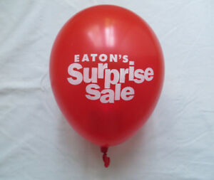 "Eaton's ""Surprise Sale"" Balloons"