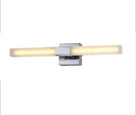NEW (2x) Spa Pandora Chrome Single Bathroom LED Wall Light - 2 x 3.2W