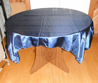Selling Navy Tablecloths/Overlays