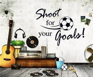 Shoot For Your Goal Football Removable Wall Decal Sticker Boys Ro Casula Liverpool Area Preview
