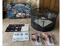 WWE Elimination Chamber (Jakks 2003) & Figures - COMPLETE SET - Survivor Series