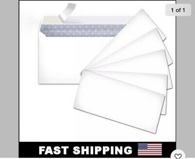 60 Peel And Self-seal White Letter Mailing Envelopes Security 4-18 X 9-12 No10