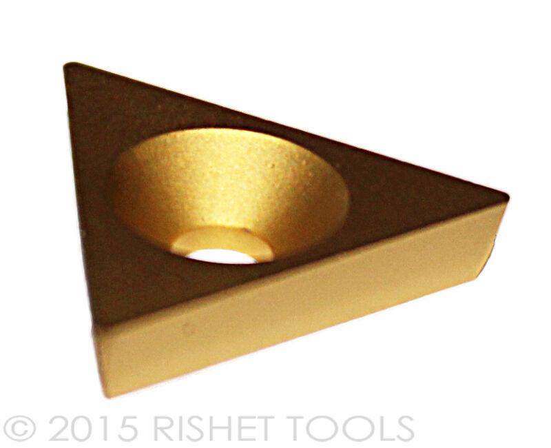 RISHET TOOLS TPGB 321 C5 Multi Layer TiN Coated Carbide Inserts 10 Pack
