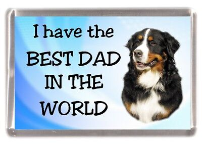 "Bernese Mountain Dog Fridge Magnet ""I have the BEST DAD IN THE WORLD"""