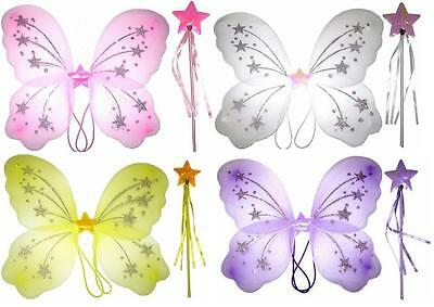 Ladies Child Butterfly Fairy Glitter Wing Wand Dress Up Sets Wholesale Bulk Pack](Bulk Fairy Wings)