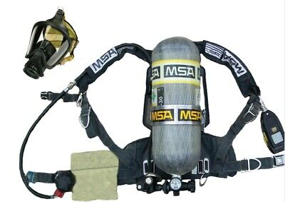 Msa Scba Airpack With Facepiece And 2216 Psi 30min Cylinder And Spare Cylinder